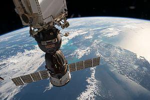 Soyuz MS-03 - Soyuz MS-03 docked to ISS