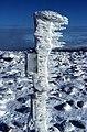 Icy post - geograph.org.uk - 321607.jpg