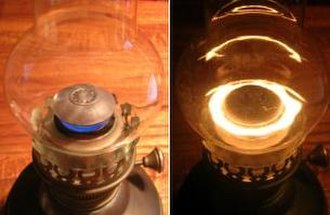"Kerosene lamp - ""Central-draught"" tubular-wick kerosene lamp"