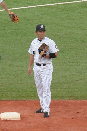 Tadahito Iguchi - Iguchi with the Chiba Lotte Marines