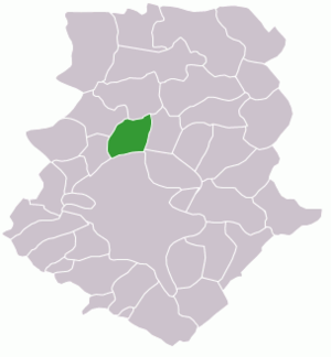 Otopeni - Map of Ilfov county with Otopeni highlighted