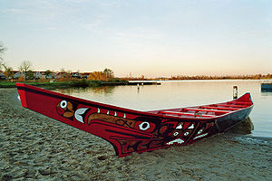 Pacific Northwest canoes - A seagoing dugout canoe