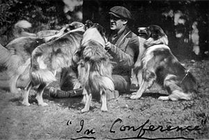 Albert Payson Terhune - Albert Payson Terhune in conference with his Rough Collies