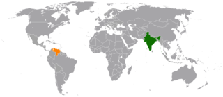 Diplomatic relations between the Republic of India and the Bolivarian Republic of Venezuela