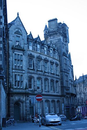 John Henderson (architect) - The India Buildings at the head of Victoria St, Edinburgh (completed by David Cousin)