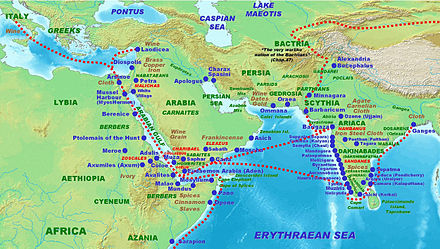 Map Of India And Africa.Indo Roman Trade Relations Wikipedia