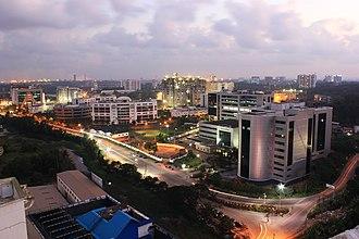 InfoPark, Kochi - Aerial view of Infopark Phase I in 2012