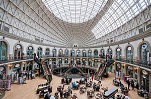 Leeds - The Leeds Corn Exchange opened in 1864
