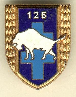 "126th Infantry Regiment (France) - Regimental insignia (""White Buffalo"")"