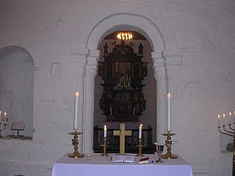 Alstahaug Church - Image: Interior Allstahaug 01