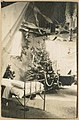 Interior of tent decorated for Christmas at U S Army Base Hospital No 50, Mesves sur Loire, France, December 1918 (MOHAI 8830).jpg
