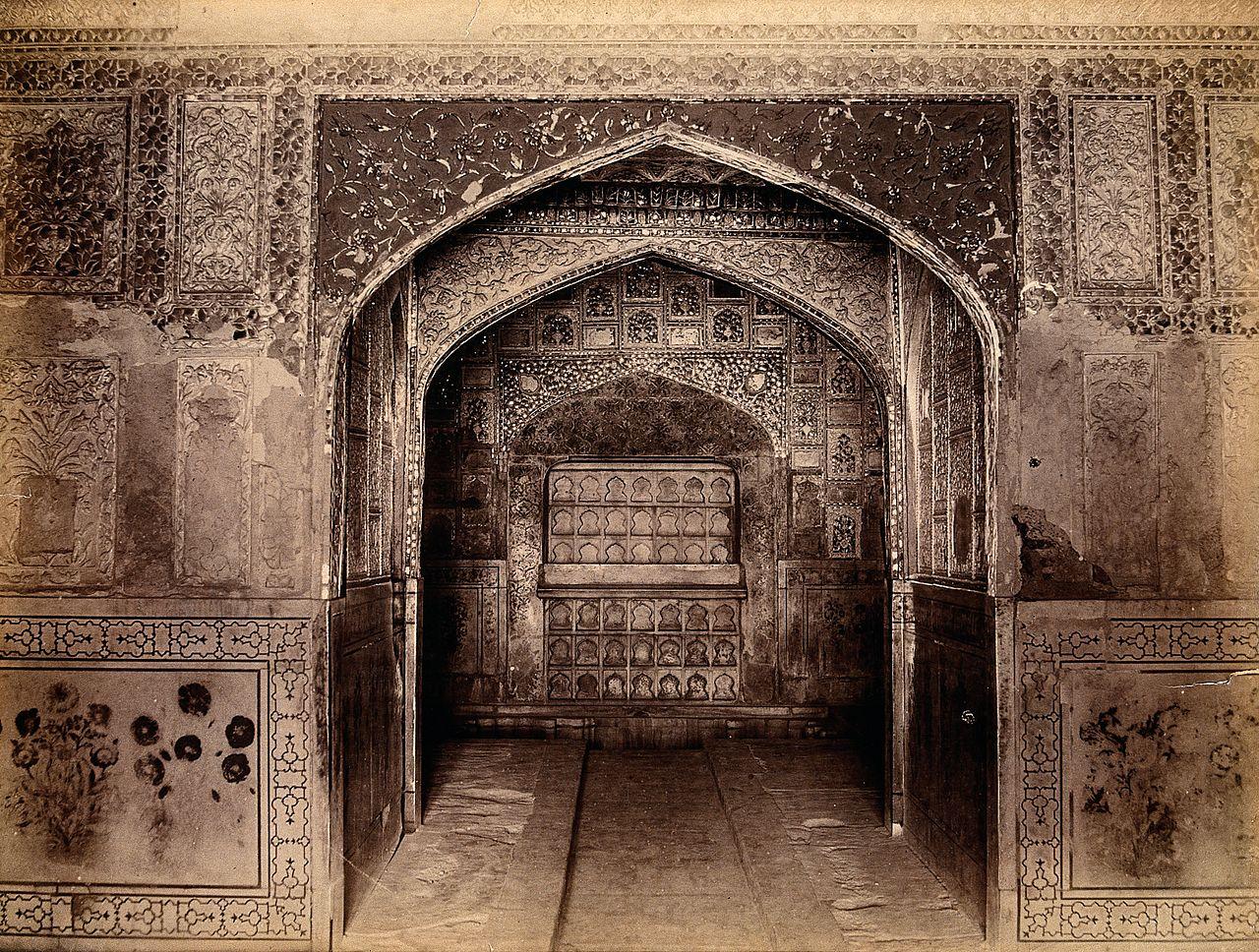 File interior of the taj mahal india wellcome v0037719 for Interior taj mahal