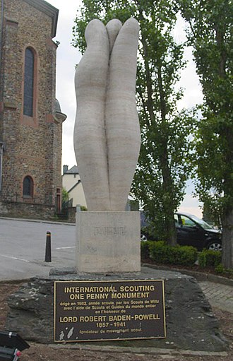 Wiltz - The International Scouting One Penny Monument.