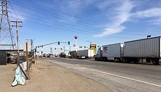 Kramer Junction, California - The intersection at Kramer Junction