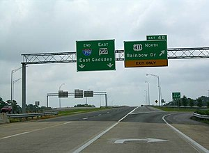 Interstate 759 - I-759 becomes SR-759 at US-411