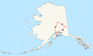 Map Of The Interstates In Alaska