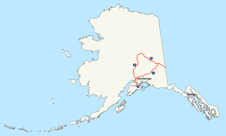 Alaska Interstate Highways Interstate Alaska map.png