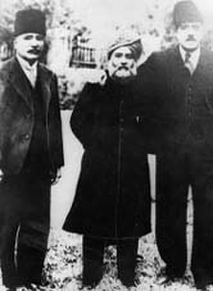 Sulaiman Nadvi - Syed Sulaiman Nadvi (m), with Ross Masood and Allama Muhammad Iqbal in Afghanistan