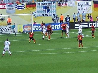 Iran national football team - Iran score against Angola during a 2006 FIFA World Cup match.