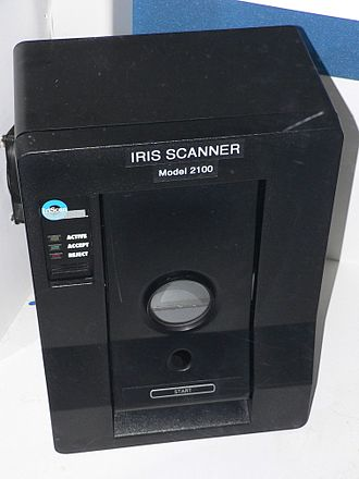 Iris recognition - A, now obsolete, IriScan model 2100 iris recognition camera.