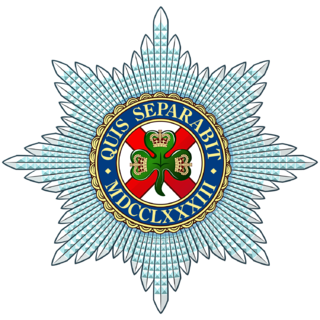 Irish Guards part of the Guards Division, is one of the Foot Guards regiments of the British Army