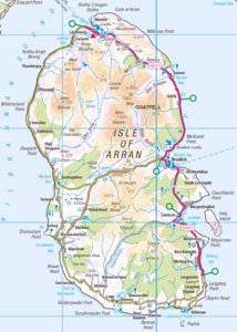 Current map of the island