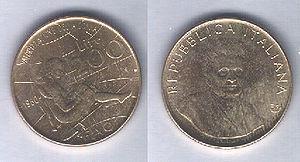 Coins of the Italian lira - FAO's celebration