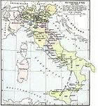 Kort over Italiens samling