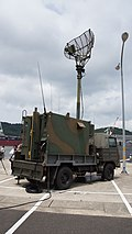 JGSDF Type 73 chugata truck(08-0080) with JS-P5 shelter of JTPS-P9 radar unit right rear view at JMSDF Maizuru Naval Base July 29, 2017 02.jpg