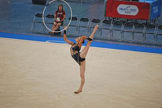 Frankie Jones (gymnast) Welsh rhythmic gymnast