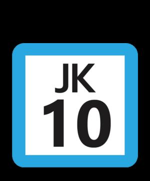 Kannai Station - Image: JR JK 10 station number