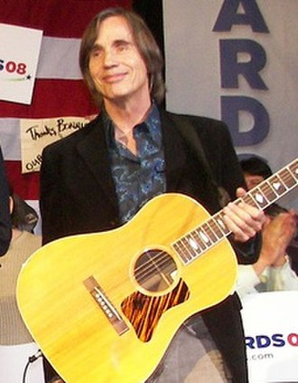 Jackson Browne - Browne campaigning for Presidential candidate John Edwards at a fundraising event in 2008