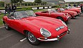 Jaguar XKE at Goodwood Motor Circuit Chichester West Sussex Great Britain .jpg
