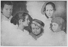 Köpfe der Kinder von Jul. Schnorr von Carolsfeld (Gemälde von Moritz von Schwind) (Quelle: Wikimedia)