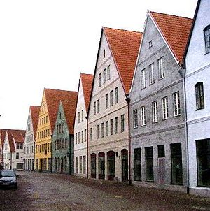 Hjärup - New houses soon ready to receive their tenants in 1991 Jakriborg