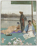 James McNeill Whistler - Variations in Flesh Colour and Green—The Balcony - Google Art Project.jpg