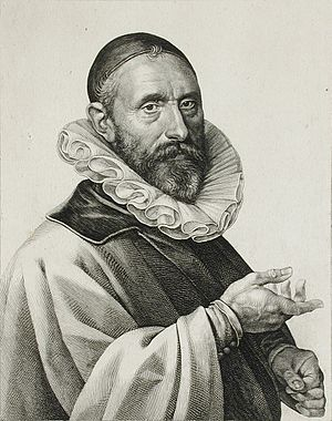 Jan Pieterszoon Sweelinck - A 1624 portrait of Sweelinck, engraved by Jan Harmensz. Muller.