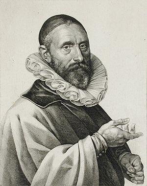 Jan Pieterszoon Sweelinck - A 1624 portrait of Sweelinck, engraved by Jan Harmensz. Muller.