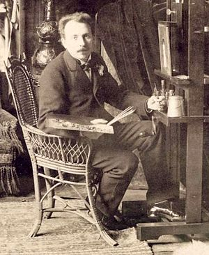 Jan van Beers (artist) - Van Beers in his studio, Paris, late 1880s