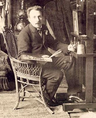 Jan van Beers (artist) - Van Beers in his studio, Paris, late 1880s