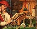Jan van eyck, san girolamo nello studio, 1435 ca. 03 tavolo.jpg