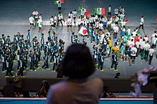 Japan and Italy athletics on 2017 Summer Universiade Opening Ceremony.jpg