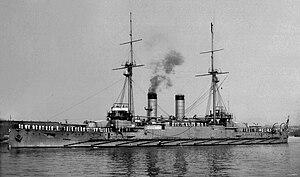 15 cm/45 41st Year Type - Image: Japanese Battleship Kashima 1906