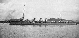 Japanese cruiser Tenryū - Image: Japanese cruiser Tenryu in Yokosuka 1919