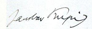Jaroslav Kvapil - Signature of Jaroslav Kvapil (1932)