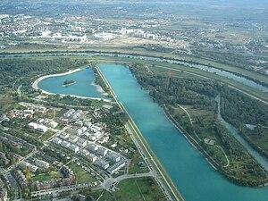 Jarun Lake aerial view