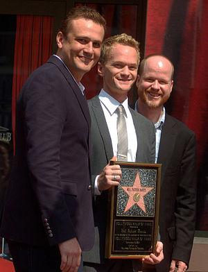 Jason Segel - Segel with Joss Whedon and Neil Patrick Harris in September 2011