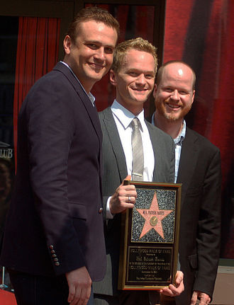 Jason Segel - Segel with Joss Whedon and Neil Patrick Harris in September 2011