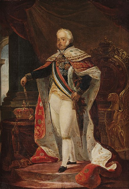 John VI, King of Portugal and the Algarves, Emperor of Brazil. Jean-Baptiste Debret - Retrato de Dom Joao VI (MNBA).jpg