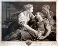 Jean Georges Wille 1778 La mort de Marc-Antoine de Pompeo BATONI (1763).jpg